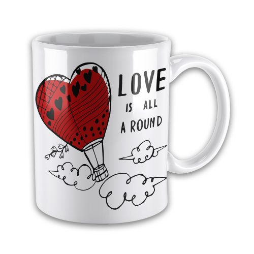 Love Is All Around Cute Novelty Gift Mug